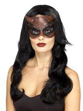 """21 """"rot und schwarz Maskerade Teufel Frauen Erwachsene Halloween Maske Kostüm Zubehör ..."""