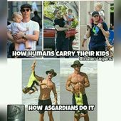 My dad carries my brother like the ashardian. He's 9. – #ashardian #australian…