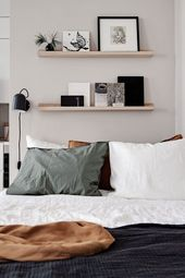 Stylish beige studio home – Bedroom