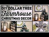 Dollar Tree DIY Farmhouse Christmas Decor Ideas 20…