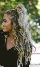 Nette Frisuren für langes Haar für Parteien, Sie am Arbeitsplatz 2018 zu versuchen