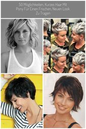 50 Möglichkeiten, kurzes Haar mit Pony für einen frischen, neuen Look zu tragen #Kurze Haarschnitte damen 50 Möglichkeiten, kurzes Haar mit Pony f…