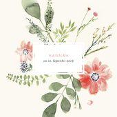 Unsere Designerin Petite Almahat mit diesem Geburtskarten-Modell eine wunderbare Verbindung zwischen moderner Farbkombination und klassischem floral…