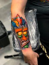 Mein erstes Tattoo. Aku Aku von Yogi Barrett im Sink oder Swim Studio in Atlanta …