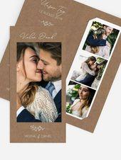 """Danke, Hochzeit """"reizendes Romance"""" zu kardieren   – DIY Hochzeit Ideen: Drucken, Basteln, Selber machen im skandinavischen, minimalistischen Stil"""