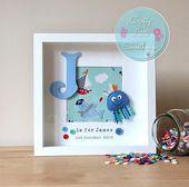 Personalised Sealife Jellyfish Box Frame, Personalised Gift, New Baby Boy Gift, … – uncategorized