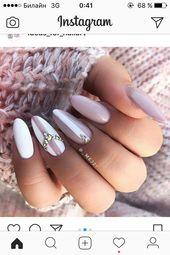 Wunderschöne rosa und weiße Nägel
