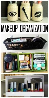 Makeup organization: four ways to keep makeup in order!