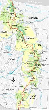 Continental Divide Trail Miles States CDT Continental - Cdt trail map