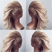 ♡ MOHAWK HAIRSTYLE ♡ 》 SWIPE 《 How cool is this 😍 Perfect for brides