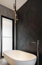 Bold black bathroom.  Doorzien House.  #2019interi… – #2019interi #backsplash …