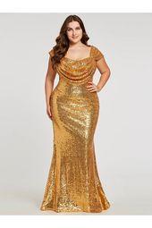 $ 59.99 Dresswe.com VerfügtPailletten Mermaid Plus Size langes heißes Abendkleid, #dress #Dresswecom #Evening #Hot