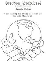 25+ God made the world coloring page info