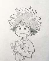 "Anime and Manga drawing ✒️ on Instagram: ""New sketch of Midoriya! 🤩 As …"