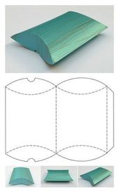 Free Printable Gift Box Templates – Pillow Box and others – #other #Bo …