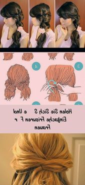 Get cute and simple hairstyles for women 54 quick and easy hairstyles for women 2018 2019 #QuickHairstyles #HairstylesKids #F …