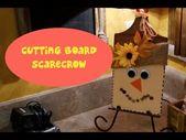 Cutting Board Scarecrow Dollar Tree Craft – YouTub…