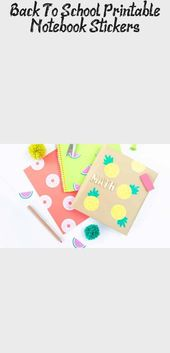 Decorate school notebooks, binders, folders and book covers with these free yumm…