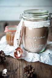 Schokoladen Tassenkuchen – Geschenke – Ideen