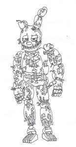 Various Five Nights At Freddy S Coloring Pages To Your Kids