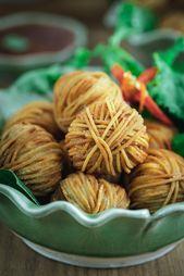 Mu Sarong, aperitivo tailandés, aperitivo tailandés, albóndigas envueltas en f …   – recetas