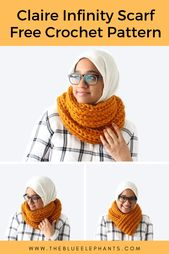 Claire Infinity Scarf: A Quick and Easy Crochet Scarf Pattern