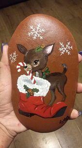 Easy Christmas Crafts für Geschenke für Mitarbeiter – Holiday Rock Painting Ideas