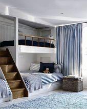 Top 70 besten Etagenbett Ideen – platzsparende Schlafzimmer-Designs