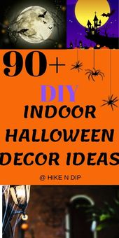 90+ DIY Indoor Halloween Decor Ideas to Welcome Spooky Vibes in your Home,  #Decor #DIY #Hall…