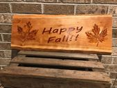 Live Edge Wood, Porch Sign, Fall Decoration Sign, Autumn Decor, Country Decor, F…   – Products