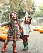 adorable little girl style for fall -…