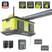 Ryobi Quiet Compact 1 1 4 Hp Belt Garage Door Opener Garage Doors Overhead Door Garage Door Opener Replacement