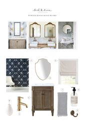 Designer Tricks: A Behind The Scenes Peek at Designing a Powder Room