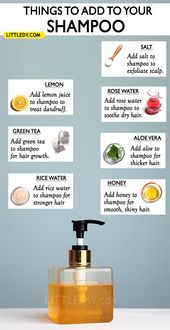 10 BEST NATURAL INGREDIENTS TO ADD TO YOUR SHAMPOO FOR HEALTHY HAIR