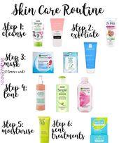Skin care routine – routine/self care.
