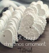 Weihnachtsanhänger aus Salzteig