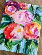 Expressive Flower Work on Canvas by Artist Elle Byers:  Study How one can Paint Flowers with Acrylic