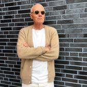 The Urban Hippie Swe (@theurbanhippieswe): mohair cardigan, white Henley – the urban hippie swe