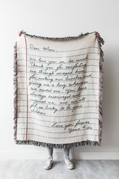 Love Letter Blanket: Customized Woven Throw, Present for Mother, Dad, Grandparents, Marriage ceremony or Anniversary Current, 100% cotton