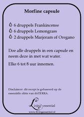 Starkes Rezept für Schmerzmittel / Morphium-Kapseln, eine natürliche Lösung mit …   – Essentiële olie