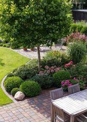 Garten gestalten Ideen Sitzecke Gartenmöbel schöne Formen