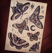 20 Ideas tattoo traditional moth insects