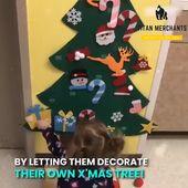 DIY felt christmas tree/snowman(Best Gift For Children.)