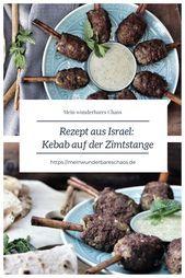 Lammkebab Auf Der Zimtstange Mit Minz Tahini Sauce Und Pitah Mein Wunderbares Chaos Chaos Lammkebab Pitah Sauce Tahini Wunderbares Zi Food Beef Meat