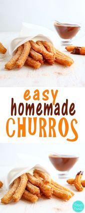 Easy Homemade Churros – Traditionelles spanisches Dessertrezept. Sie werden am besten serviert …   – Food & Drinks   Essen & Trinken