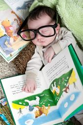 Baby book worm!
