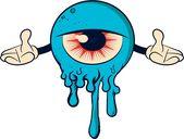 """""""Blue Monster Cartoon"""" Sticker von brusencov386"""
