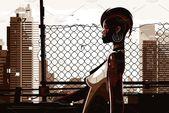 Illustrator Shortcuts  Pretty african american woman #Sponsored , #Paid, #Stylish#illustration#lady#sho...