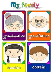My family – flashcards – a pin