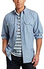Carhartt Mens Big /& Tall Fort Short Sleeve Shirt Lightweight Chambray Button Front